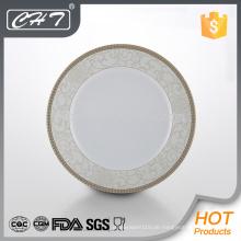 A023 heiße Verkaufs-Glückblume feine Knochen keramische Tellerplatte