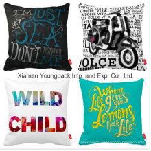 Fashion Decorative Custom Printing Cotton Linen Sofa Throw Cushion Pillow Case