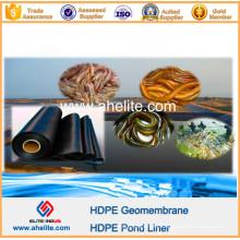 Material de impermeabilización HDPE Pond Liner para Fish Shrimp Farm