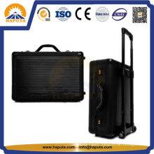 Black Large Aluminum Suitcase Luggage Trolley Case (HP-3205)