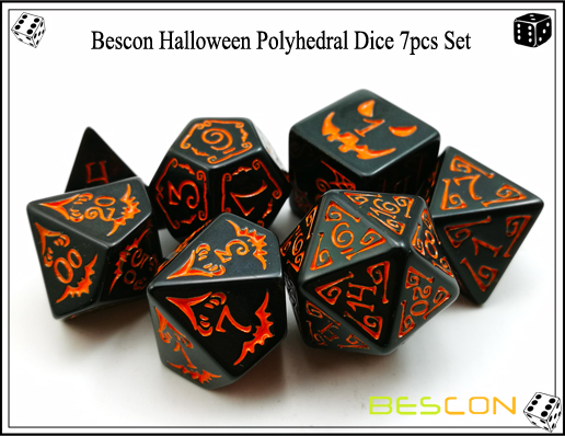 Bescon Halloween Polyhedral Dice 7pcs Set-4