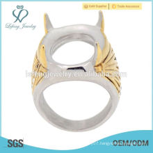 Top latest design 2015 trendy custom made stainless steel men's indonesia ring