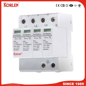 Lightning Surge Arrester 40ka Kns Surge Protection Device Power SPD 1P-4P
