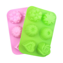 Kitchen Bakeware DIY Baking Pan Tools Colorful Silicone Cake Mold Desserts Baking Mold Mousse Cake Moulds
