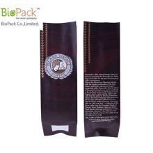 Real Compostable Plastic Gusset Food Coffee Snack Packaging Bag Factory From China