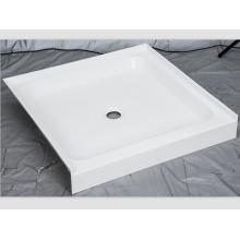 Quadratischer Mittelablauf mit Fliesenflansch-Duschbasis
