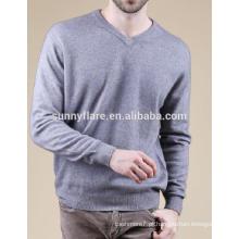 Camisola de cashmere masculina de alta qualidade