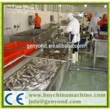 Máquinas automáticas de processamento de peixe enlatado