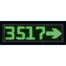 Écran de message LED vert unique à quatre chiffres P10