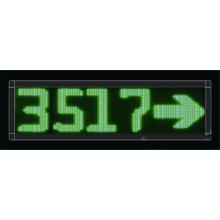 P10 Single Green Four Digits LED Message Screen