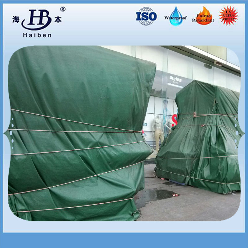PVC laminated polyester woven tarpaulin fabric for mineral