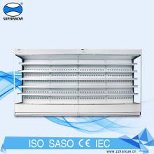 Réfrigérateur à écran ouvert à compresseur à distance pour supermarchés