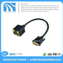 1 DVI Stecker auf 2 Buchse Konverter Adapter Splitter