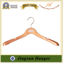 Pink Color with Black Logo Printing Skirt Hanger in Plastic