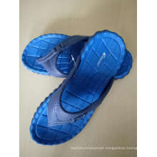The Slipper with Rubber Sole and Rubber Strap