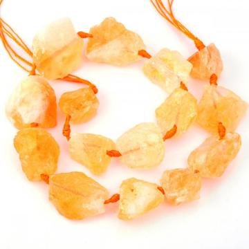 Natural Raw Rough Citrine Jewelry Crystal Gemstone Beads