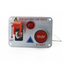 Racing Car 12V Ignition Switch Panel Engine Start Push Button Red LED Toggle Hz