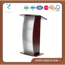 Floor Standing Podium with Curved Frosted Front Acrylic Panel