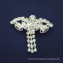 wholesale New design fashion simple contracted cheap rhinestone brooch