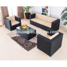 Garden PE rattan furniture aluminum frame pool rattan sofa