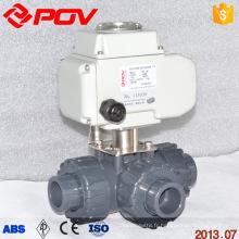 régulation à courant continu 24v 3 voies motorisé pvc robinet à boisseau sphérique