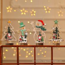 Wooden Christmas Tree Pendant Christmas Wood Ornaments Navidad 2021 New Year 2022 Natal Gift Xmas Christmas Decoration for Home