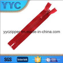 Yyc Nouveau design en plastique Fermeture à glissière décorative en plastique pour les ventes