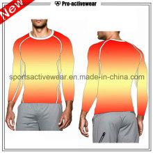 OEM Compression Clothing Sport Running Long Sleeves Men T Shirt