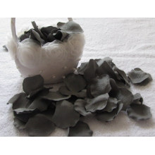 Pétalos artificiales únicos de la flor del color gris