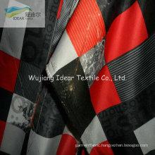 Printed Twill Polyester Microfiber Peach Skin Fabric For Beach Shorts