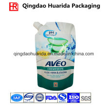 Customized Liquid Soap Spout Pouch, Stand up Plastic Bag