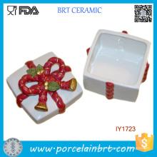 Regalo de Navidad de la caja de almacenamiento de la caja de cerámica de la venta caliente