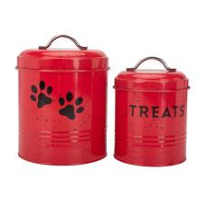 Recipiente de alimentos para animais de estimação acessório vermelho