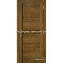 Portas interiores do folheado de madeira barato para o quarto interior