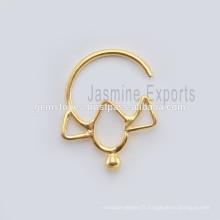 Indian Septum Body Piercing Jewelry, bijoux faits à la main en Septum Nose Ring, Vente en gros Septum Fashion Body Jewelry