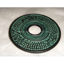 Hot Sale Embossed High Quality Cast Iron Saucer