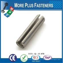 Hecho en Taiwán 5mm de acero inoxidable Slotted Spring Tension Pins