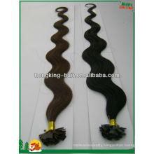 human hair flat tip pre-bonded hait extension,keratin hair extension