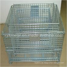 Arten von Faltbare Metall Mesh Warehouse Lagerung Container