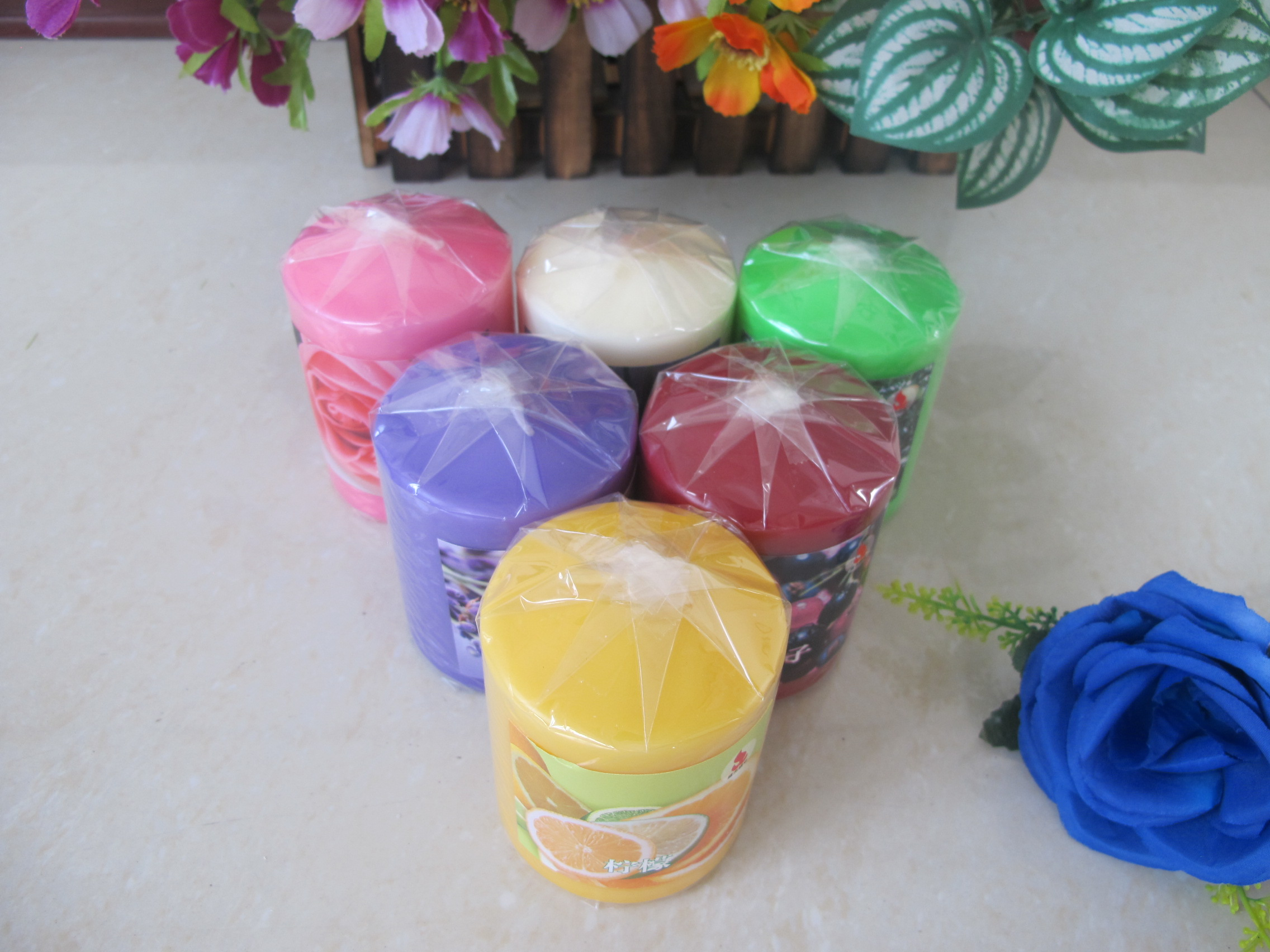 Scented Pillar Candles Smooth