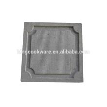 Runde polierte Lavastein-Grillplatte / -platte