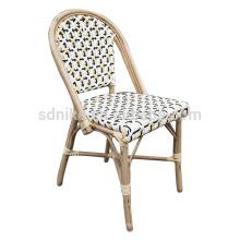 DC- (148) Silla moderna de comedor de ratán de mimbre / silla de caña de bambú