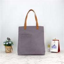 OEM Women Fashion Casual Canvas Handbags Large Capacity Tote Shoulder Bag