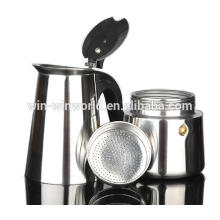 Hot Wholesale Portable Stainless Steel Italian Gas Coffee Maker