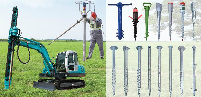 Ground Screw Piles Driver