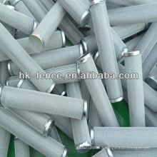 Cartouches filtrantes frittées de solides solubles usine