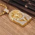 Iced Out Hip Hop Gold Jesus Piece Necklace