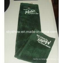 100% algodón bordada toalla Golf deportes