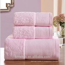 100% coton super doux ensemble de serviettes de haute qualité