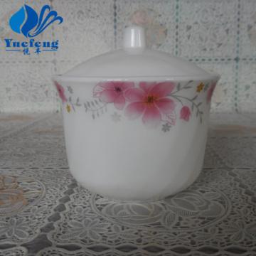 Opal Glass Pressing Sugar Pot With Lid